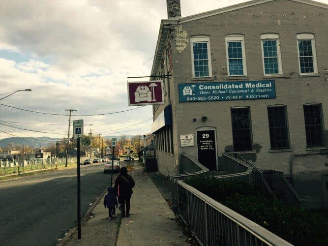 an open, two-story space available for rent Newburgh, NY