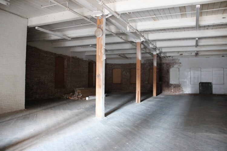 Open industrial space available for lease