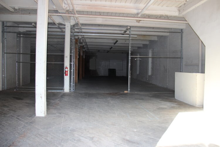 Open industrial space available for lease in Newburgh