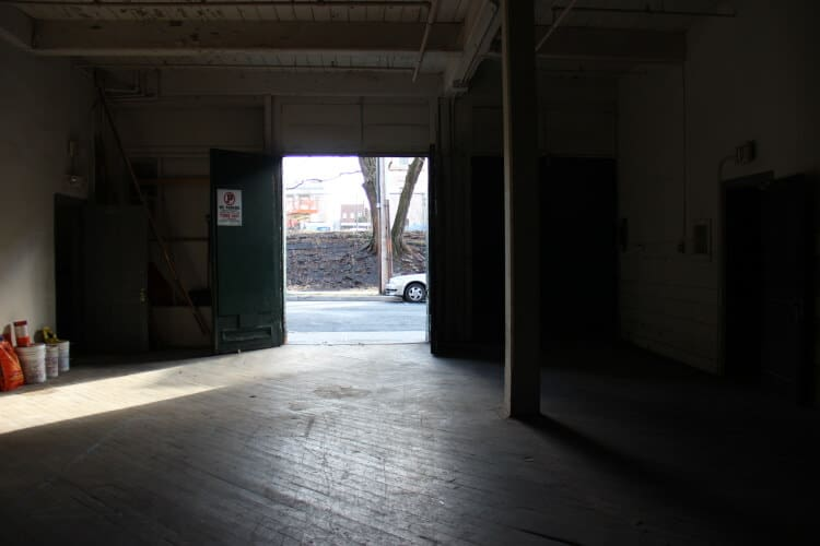 Open industrial space available for lease in Newburgh, NY