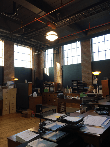 299 Washington Street Warehouse with office space interior shot