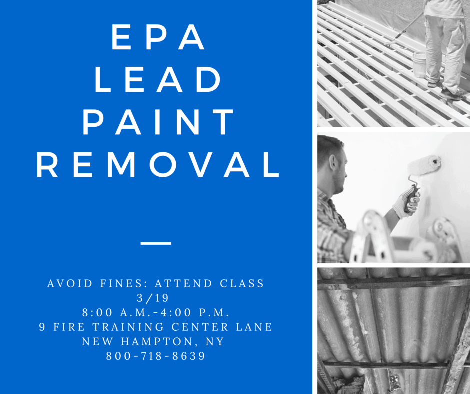 Lead Paint Removal Certification