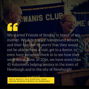 Kiwanis of Newburgh honors Friends of Seniors with Everyday Hero award, 2016
