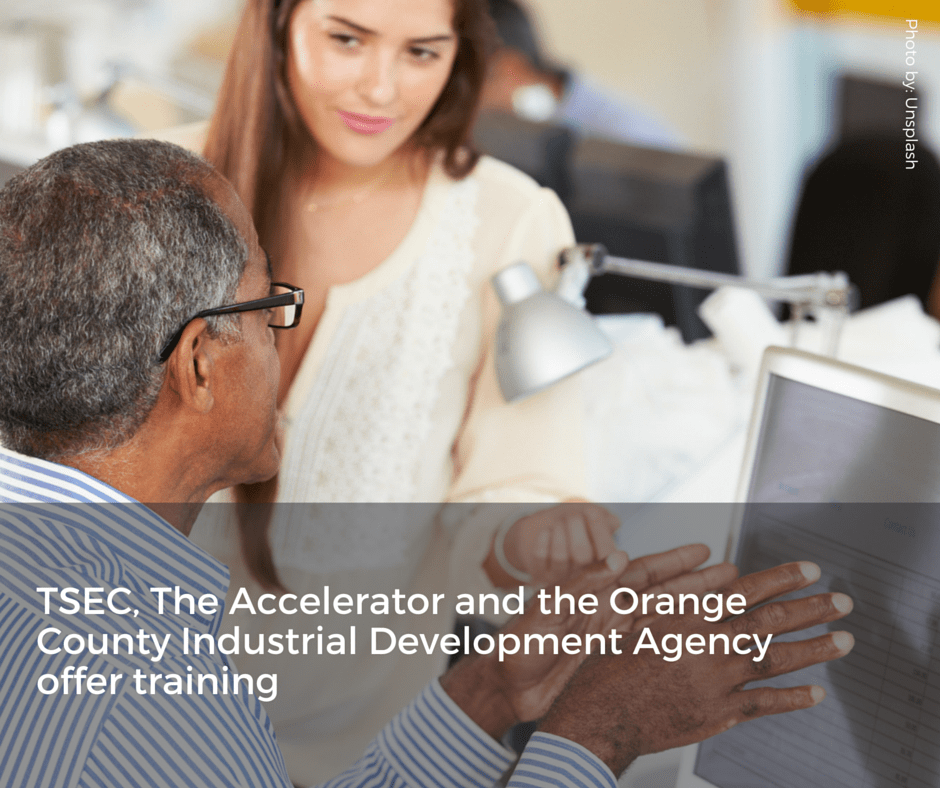 TSEC and the Orange County Industrial Development Agency offer training