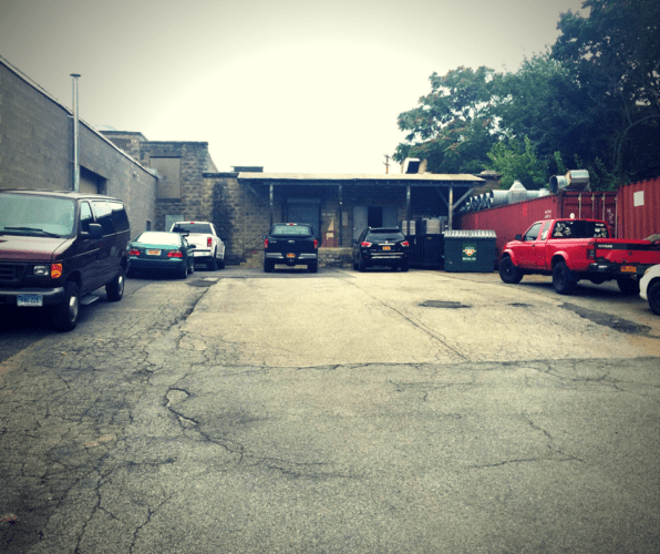 Parking lot and loading docks 26 Liberty Street, Newburgh, N.Y.