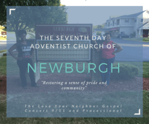 Join the Love Your Neighbor Rally organized by Michelle R. and Carol A. shown here at the the Seventh Day Adventist Sign at 497 Gidney Avenue, Newburgh, N.Y. where the processional begins!