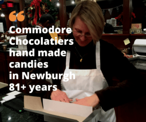 Commodore Chocolatier's delicious hand crafted candies boxed up by Chris Courtsounis