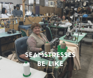 Claudia, Rocio Silva's mother. She is one of the expert, highly trained seamstresses at Ramos Upholstery, Newbugh,N.Y.