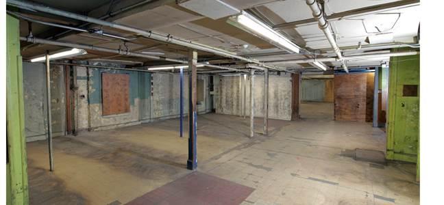 open floor plan for retail