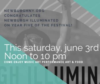 2017 Newburgh Illuminated Festival promoting Newburgh, N.Y.