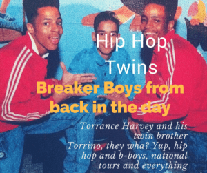 Torrance and Torrino Harvey aka The Twinz in a vintage photo from back in the day. Councilman Harvey now teaches and serves in Newburgh, N.Y.