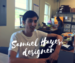 Lucky Bug baby clothes are designed and made in the Hudson Valley. Pictured here, Samuel Hayes, lead designer