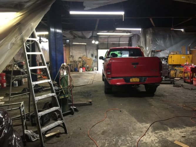 Interior view of 189 Lander Street Newburgh NY Garage/Automotive Use Building for Sale