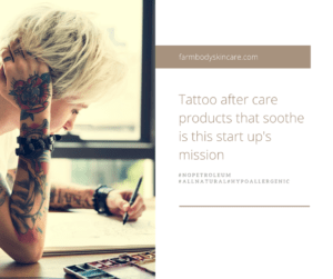 Farmbody Skincare soothes tattoo art and maintains vibrance