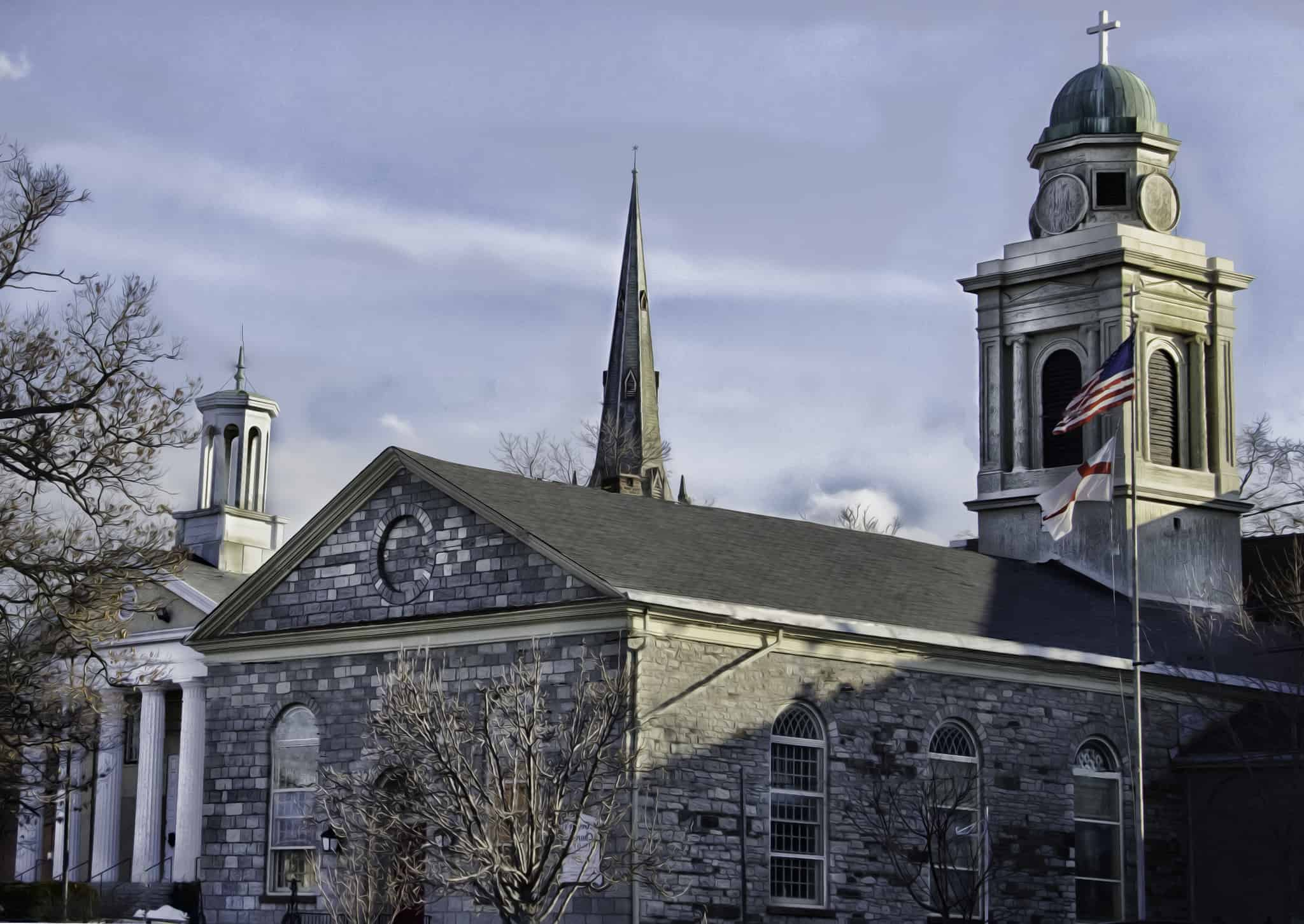 Discover Newburgh's East End Historic District and St. George's Church a beautiful Federal building.