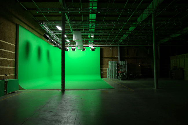 Green Screen Cyc wall at Umbra Studio, Newburgh, N.Y.