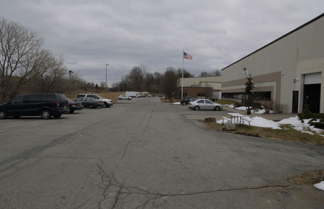 Extensive parking available at Umbra studios in Newburgh, N.Y.