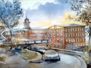 Artist's rendering of historic Regal Bag Building 302 North Water Street Newburgh