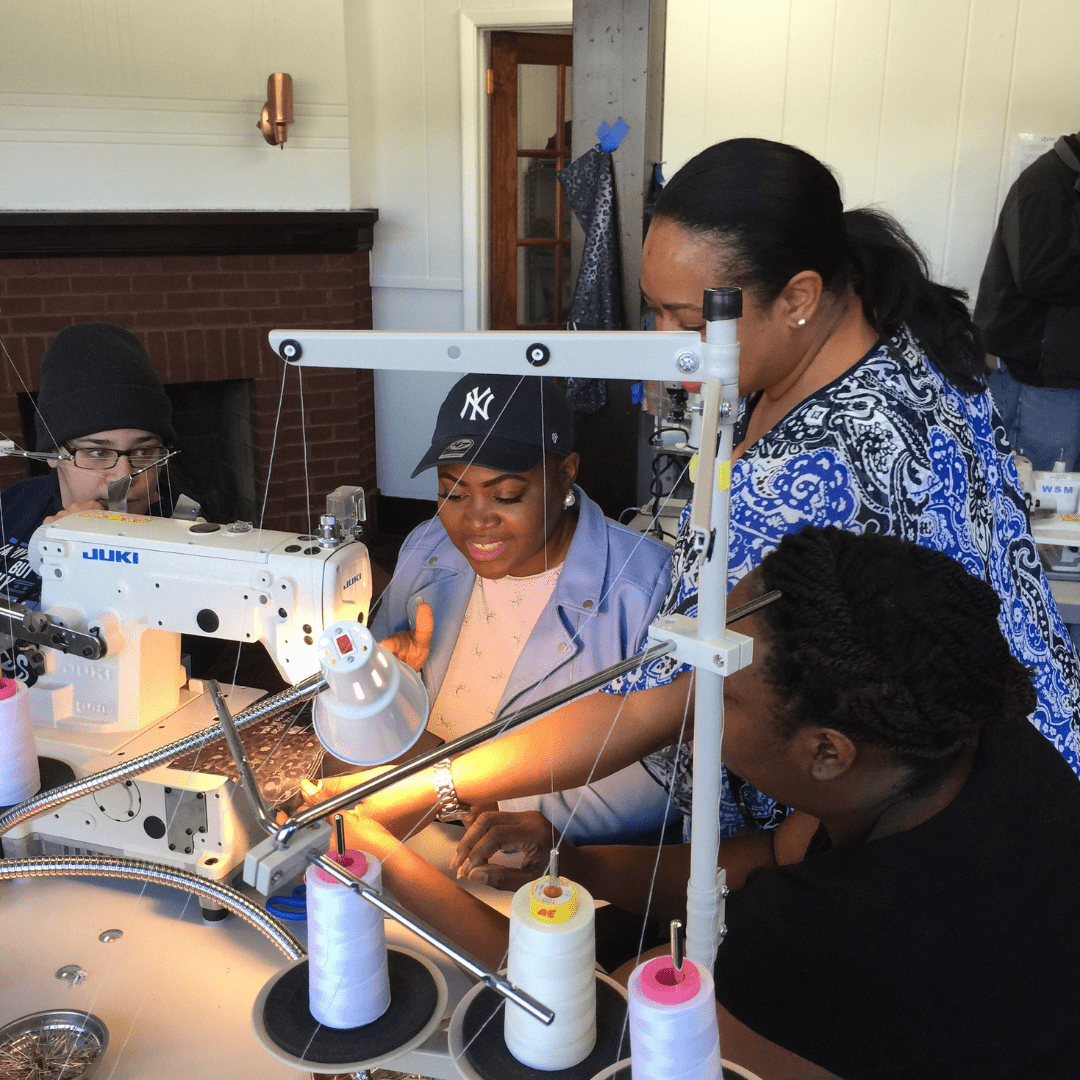 Seamstresses being trained in Newburgh for tech startup Zielwear