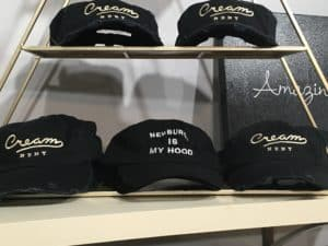 Local businesses feature embroidered hats by ColorCube