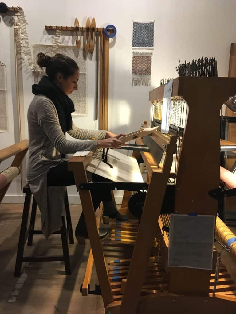 Participants discover Newburgh's Newest Intro Weaving Workshop