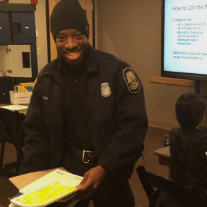 Officer Dellauno Thomas of the Community Progressive Response Team
