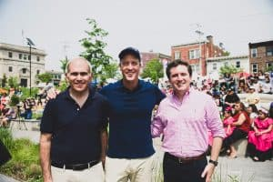 Assembleyman Jonathan Jacobson, U.S. Representative Sean Patrick Maloney, and N.Y. State Senator James Skoufis
