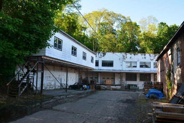 Backyard view of Warehouse at 420 Montgomery Street, Newburgh, N.Y