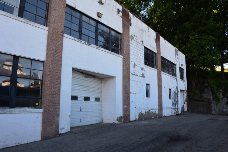 Side view of Warehouse at 420 Montgomery, Newburgh, N.Y.