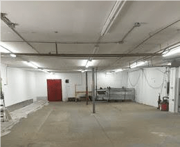 Interior shot 2,750 Sq. Ft. Warehouse For Lease at 2 Pierpoint Avenue, Newburgh, N.Y.