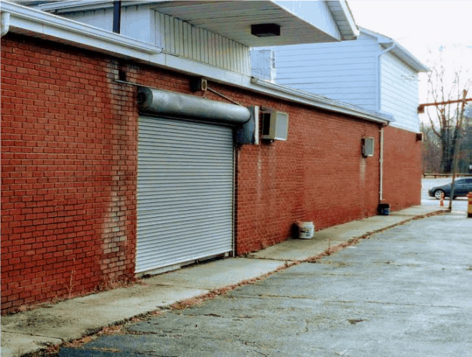 side view 2,750 Sq. Ft. Warehouse For Lease at 2 Pierpoint Avenue Newburgh, N.Y.