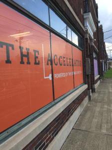 The Orange County Accelerator fitted up a manufacturing site for startup clients like The Elizabeth Collection a hand made leather goods manufacturer