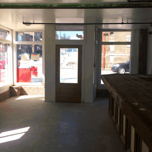 Interior view of mixed-use commercial space at 2 Liberty Street, Newburgh, N.Y.