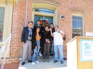 Habitat's 100th home family