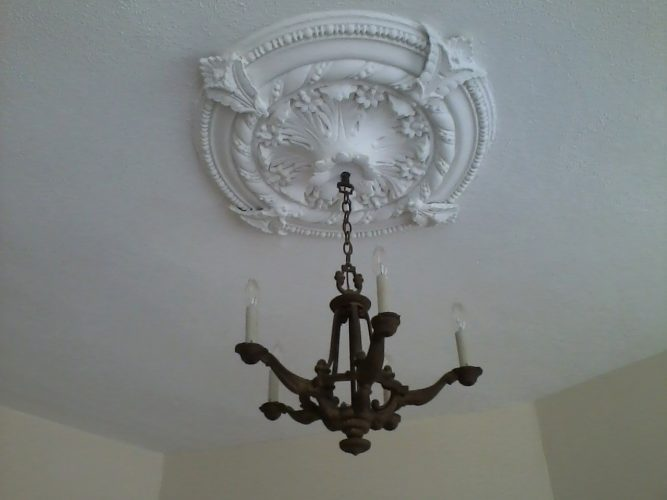 87 Liberty Street apartment chandelier