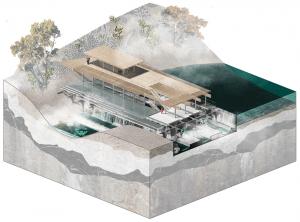 A Columbia Architecture GSAPP HVI cohort reimagined the Quassaick Creek enhanced by a Nature Museum