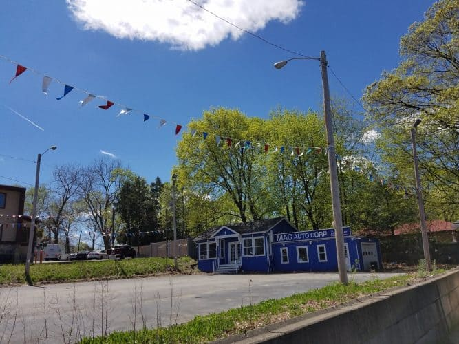 Retail Building for Sale at 453 Robinson Ave in Newburgh, New York street view