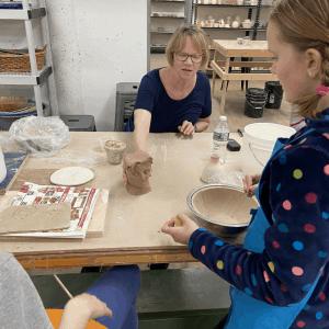 Homeschoolers enjoy ceramics classes at The Newburgh Pottery